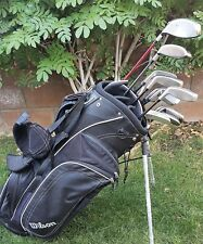 Taylormade RAC Lt 4-PW STIFF Graphite Irons / R7 9.5 DR/ Woods wedg /Putter/ Bag