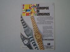 advertising Pubblicità 1974 LONGINES OROLOGI