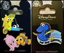 Disney Parks 3 Pin Lot FINDING NEMO & friends + Dory Keep Swimming