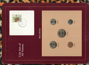 Coin Sets of All Nations Malaysia UNC 1,20,50 Sen 1988 5,10 Sen 1981 27JAN89