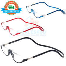 Full Rim Magnetic Reading Glasses Adjustable Eyeglasses Flexible Neck Hanging