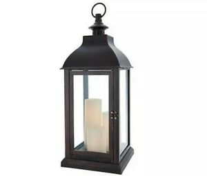 Candle Impressions Large Indoor/ Outdoor Lantern with 3 Candles