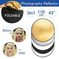 110CM 5in1 Photo Reflector Photography Studio Light Multi Collapsible Disc 43""