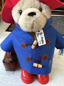 Paddington Bear Teddy 14 Inch, With Boots And Suitcase