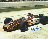 BOBBY UNSER INDY CAR DRIVER SIGNED 8x10 PHOTO INDIANAPOLIS 500 CHAMPION 4 w/COA