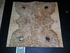 Olive Ash Burl raw wood veneer, 2 panels,  1/42nd thick                 r7726-35