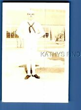REAL PHOTO RPPC V+7326 SAILOR POSED WITH HANDS BEHIND BACK