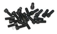 20-BLACK-1/4-20 x 5/8 SH STEEL SOCKET HEAD ALLEN CAP MACHINE SCREW FASTENER BOLT