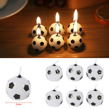 6Pcs Soccer Ball Football Happy Birthday Party Cake Candles Supplies Kids Gifts