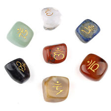 7pcs Natural Tumbled Chakra Stones Set Carved Reiki Healing Crystal EN0615SY