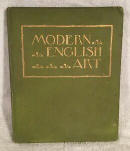 Vintage Antique Hard Back Book Modern English Art 1895 edited by A G Temple FSA
