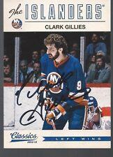 New York Islanders CLARK GILLIES Signed Card