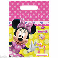 MINNIE MOUSE PINK PARTY LOOT GIFT BAGS Birthday Party Supplies Girls Favour Bag