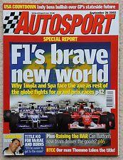 AUTOSPORT MAGAZINE 26th SETTEMBRE 2002-San Remo WRC