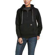 Ariat® Ladies Rebar™ Skill-Set Black 1/2-Zip Hoodie 10032914