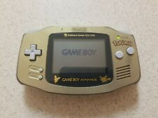 Gold Pokemon Pikachu GameBoy Advance System New York Limited Nintendo GBA