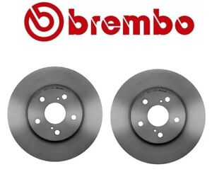 For ES300 IS250 Camry Sienna Solara Pair Set of 2 Front Brake Disc Rotors Brembo