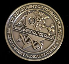 Wash DC Deptartment Of Forensic Sciences Chief Medical Examiner Challenge Coin