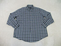 Brooks Brothers Button Up Shirt Adult Extra Large Green Plaid Long Sleeve Mens