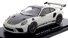 1/18 Spark Porsche 911 (991 II) GT3 RS Weissach Package chalk gray / black