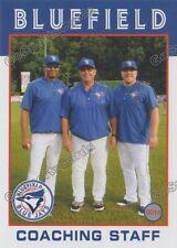 2016 Bluefield Blue Jays Dennis Holmberg Aaron Mathews Antonio Caceres MGR PC