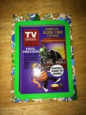2008 WACKY PACK FLASHBACK 2 PACKAGES GREEN PARALLEL STICKER TV GHOUL 58 GUIDE