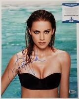 Amber Heard signed 11x14 Photo #1 Actress Model Autograph ~ Beckett BAS COA