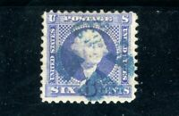 USAstamps Used FVF US 1869 Pictorial Issue Blue Cancel Scott 115 With Grill