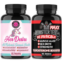 Female Libido Enhancement for Her + Monster Test Maxx Testosterone Booster His