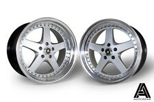"Autostar Omega 19"" x 9.5"" / 10.5"" et22 alloys Nissan 350Z fit dished JDM 5x114.3"