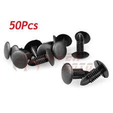 50Pcs Car 5mm Hole Black Panel Retrainer Liner Rivet Push Clips For Toyota FM