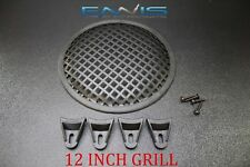 12 INCH STEEL SPEAKER SUB SUBWOOFER GRILL MESH COVER W/ CLIPS SCREWS GLKT-12