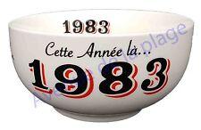 Bol année de naissance 1983 en grès - idée cadeau anniversaire neuf