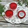 24 Plastic Jars DIY Hummingbird Feeder Part Trans RED Caps DecoJars 1/2 ounce US