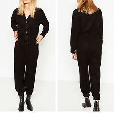 Zara BLACK lyocell LONG JUMPSUIT Premium Collection Overall size S M 8514/241