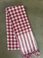 Krama Khmer Scarf Red Garnet 100% Cotton Traditional Mixed Cambodia Asia 93
