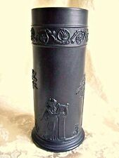 "WEDGWOOD BLACK BASALT JASPERWARE  ""ARCADIAN SPILL VASE""  - MINT CONDITION!"