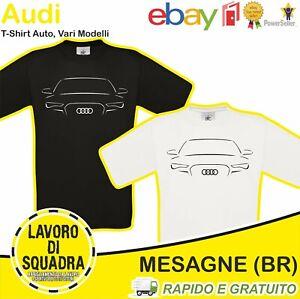 T-shirt - Audi - Auto Car Quattro RS A1 A3 A4 A6 AVANT Q3 Q5 Q7 Q8 Idea Regalo