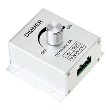 DC 12-24V 8A Single Channel Knob Dimmer Controller For LED strip Lamp