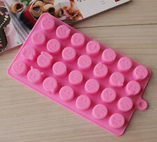 Emoji Expression Silicone Mold For Cake Chocolates Funny Candy Ice Baking pink