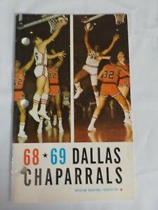 1968-69 DALLAS CHAPARRALS ABA AMERICAN BASKETBALL MEDIA PRESS GUIDE RARE