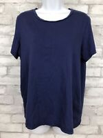 Bombas T Shirt Astral Blue Peruvian Pima Cotton Garment Wash Tee Short Sleeve M