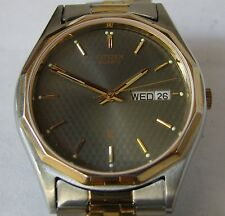 Citizen 6100 Day & Date Watch with Original Stainless Steel Bracelet