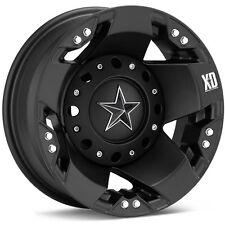 "17"" XD Rockstar Dually Black Wheels W/ 35x12.50R17 Nitto Trail Grappler Tires"