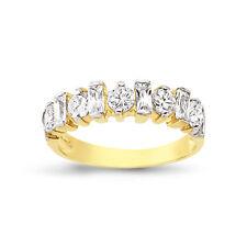 9CT GOLD LADIES CUBIC ZIRCONIA CZ HALF ETERNITY BAND WEDDING RING GIFT BOX