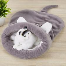 Pet Cat Dog Soft Warm Nest Kennel Bed Cave House Sleeping Bag Mat Pad Tent FA