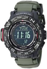 Casio Pro Trek Men's Solar World Time Green Resin Band 53mm Watch PRW-3510Y-8