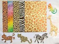 12 Sheets & 5 Animal Shape A4 Animal Print CARD Kids Craft School Toddler Home