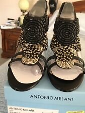 b0e6303cb6ae6 Women s Antonio Melani Beaded Sandal Stilettos With ZIPPER Heel Size 6.5