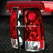FOR 1999-2003 CHEVY SILVERADO PICKUP CHROME HOUSING TAIL LIGHT REAR BRAKE LAMP